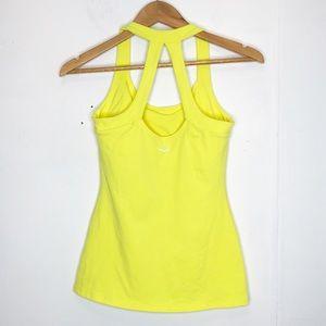 Beyond Yoga scoop neck racerback tank in yellow